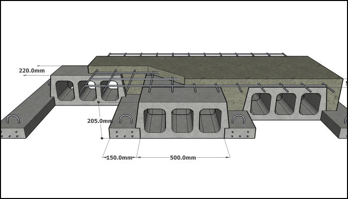 200 mm Rib & Block